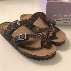 Madden Girl Brycee Pewter Multi Sandals